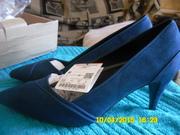 Продам женские туфли Зара на 38 размер синий цвет замша